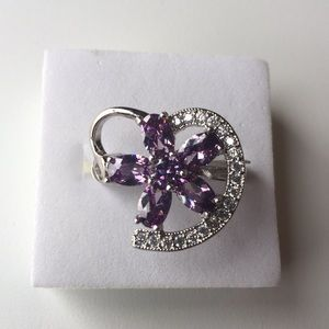 Stamped 925(sterling silver) purple amethyst size7